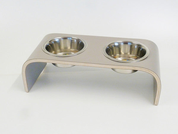 Small Platinum Grey Raised Feeder for Cats and Dogs - Jolly and Bea's - 4