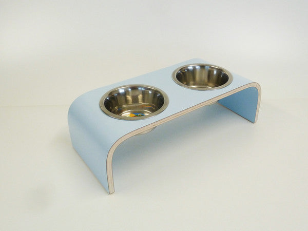 Small Powder Blue Raised Feeder for Cats and Dogs - Jolly and Bea's - 2