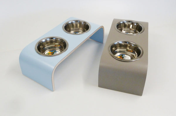 Small Powder Blue Raised Feeder for Cats and Dogs - Jolly and Bea's - 4