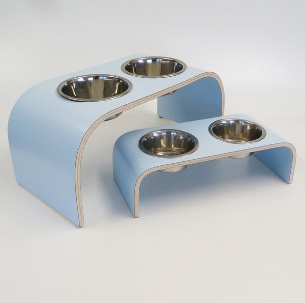 Small Powder Blue Raised Feeder for Cats and Dogs - Jolly and Bea's - 5