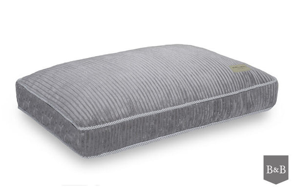 Deco Silver Dog Bed Cushion - Jolly and Bea's