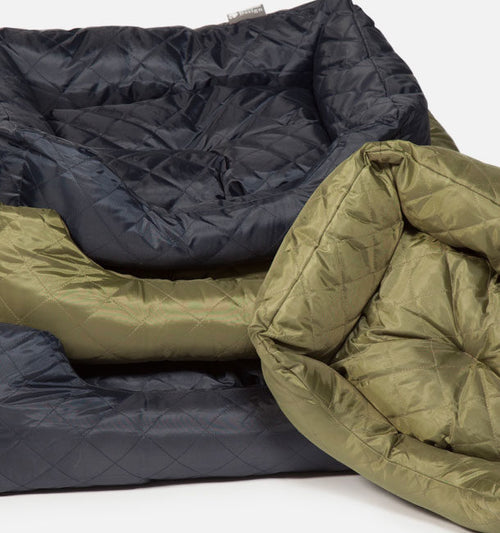Green Quilted Snuggle Bed