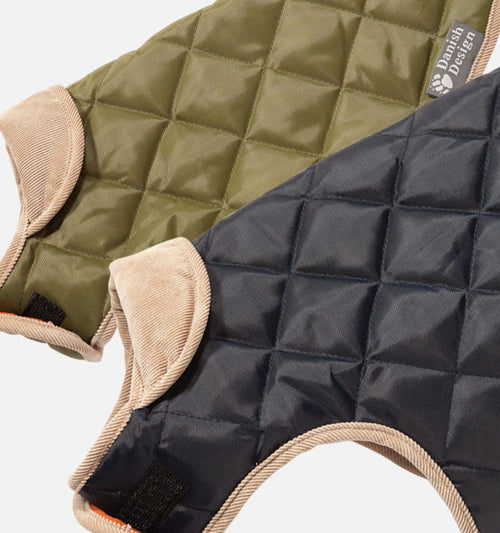 Navy Quilted Dog Coat - Jolly and Bea's - 2