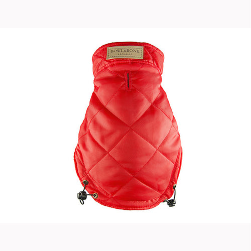 Red Quilted Dog Jacket - Jolly and Bea's - 1