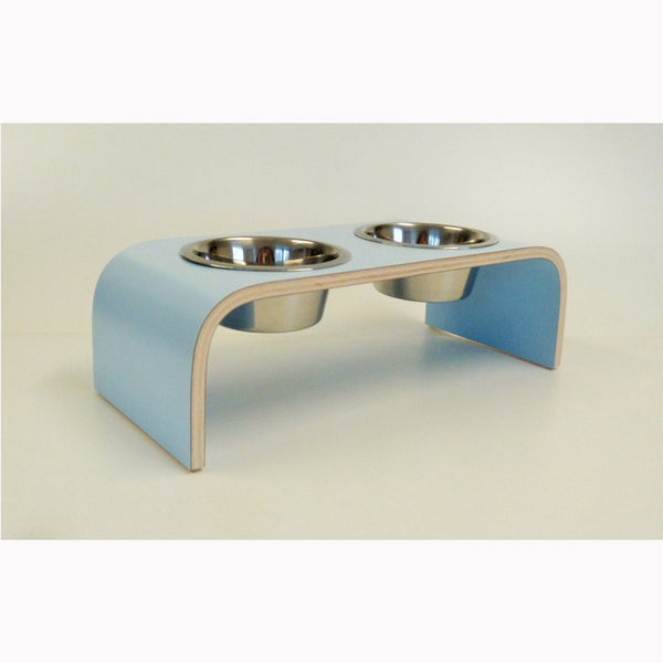 Small Powder Blue Raised Feeder for Cats and Dogs - Jolly and Bea's - 1