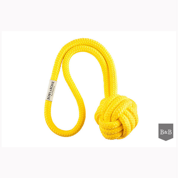 Yellow Bullet Dog Toy by Bowl & Bone Republic - Jolly and Bea's - 1