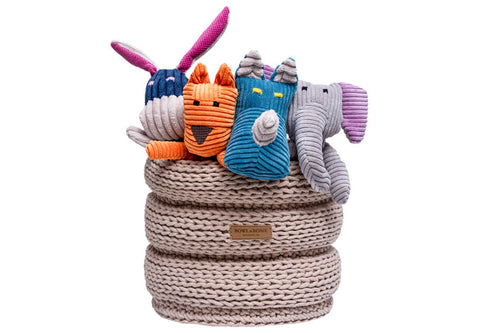 basket for dog toys RING beige