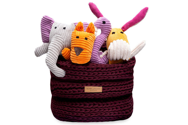 basket for dog toys RING bordo