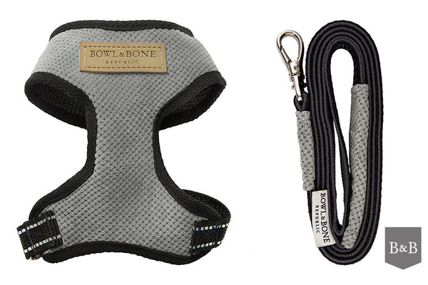 Grey Candy Dog Harness - Jolly and Bea's - 4