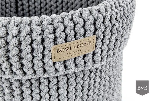 Grey Cotton Toy Basket - Jolly and Bea's - 2