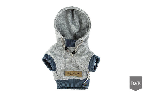Grey LOVE Dog Hoodie - Jolly and Bea's - 2
