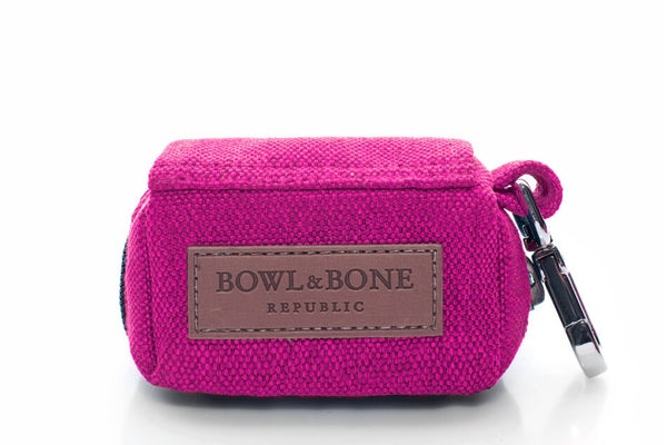 dog waste bag holder MINI pink