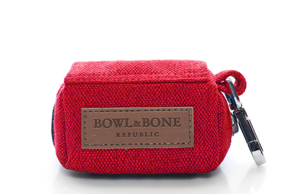 dog waste bag holder MINI red