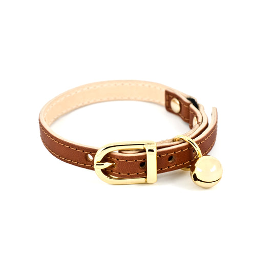 Linny Tan Cat Collar