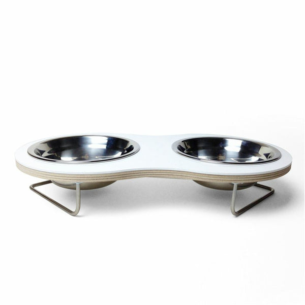 Peanut Medium Dog Bowl (White) - Jolly and Bea's - 3