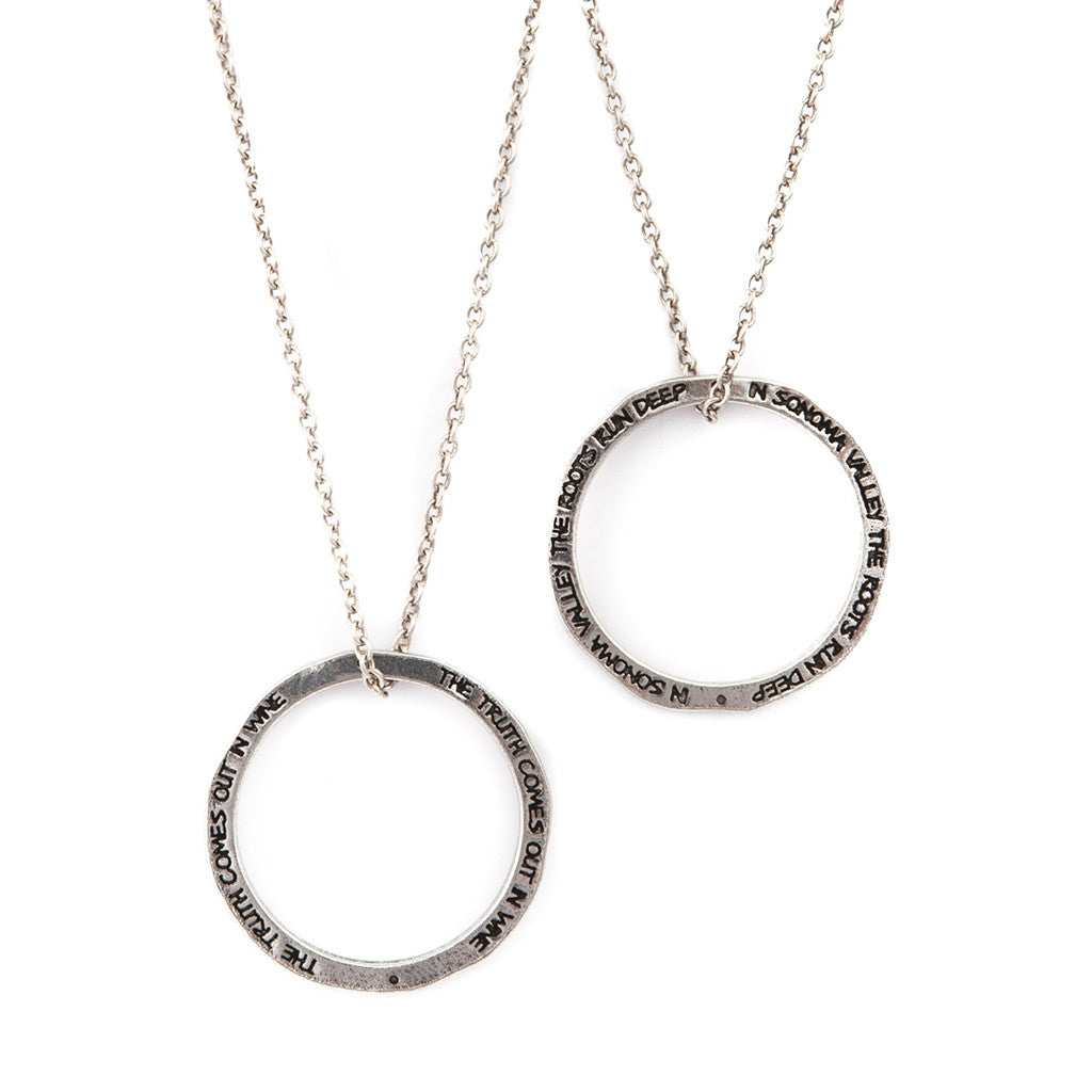 Circle Quote Necklaces