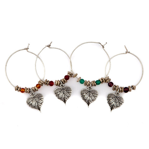 Grape Leaf Wine Glass Charms