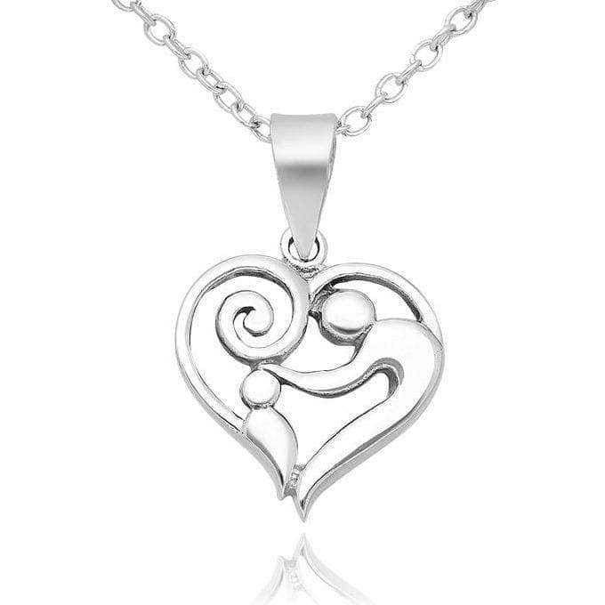 Sterling Silver Mom Child Necklace