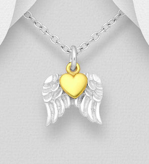 Wings and Heart Necklace