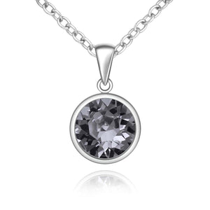 Silver Sparkle Swarovski Silver Night Necklace
