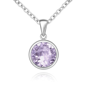 Silver Sparkle Swarovski Violet Necklace