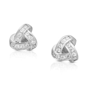 Sterling Silver Knot Earrings