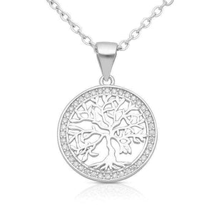 Silver Trees of Life Necklace