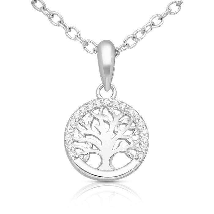 Silver Cubic Trees Necklace