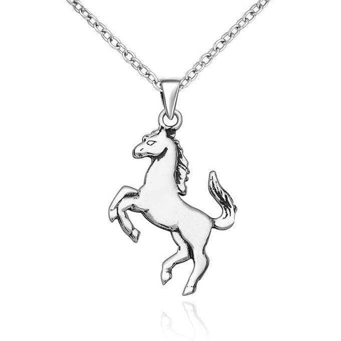 Silver Horse Necklace