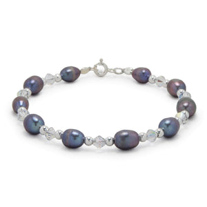 Silver With Freshwater Pearl Bracelets