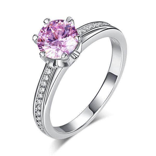 Sterling silver Pink 1.25 ct Ring
