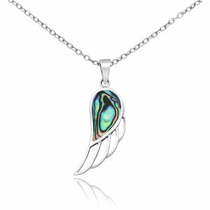 Silver Shell Wing Necklace