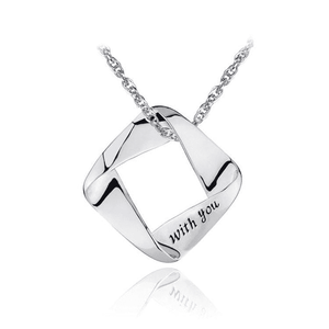 Necklaces | Sterling silver love with you pendant (5761282693)