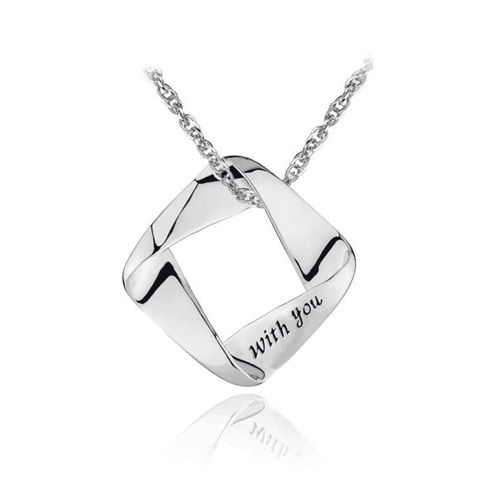 Necklaces | Sterling silver love with you pendant