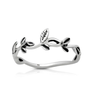 Sterling Silver 925 Leaf Ring
