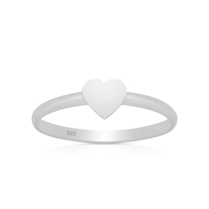 Sterling Silver solid Heart Ring