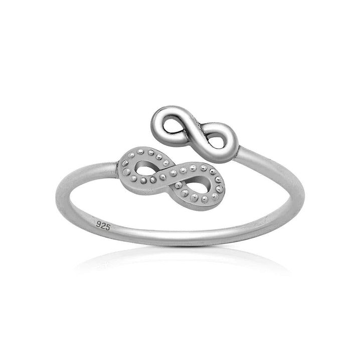 Sterling Silver Double Infinity Ring