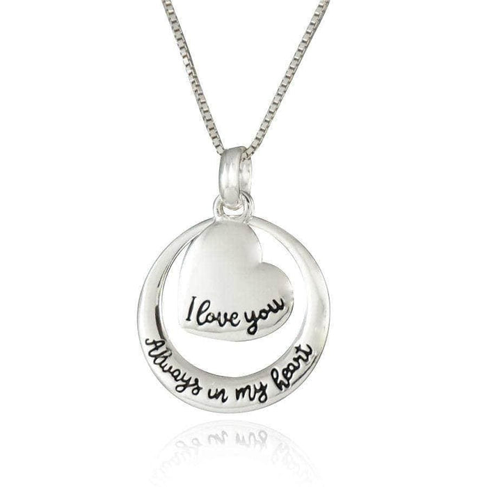 "Sterling Silver ""I love you Always Necklace"
