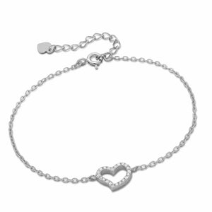 Sterling Silver Single Heart Bracelet