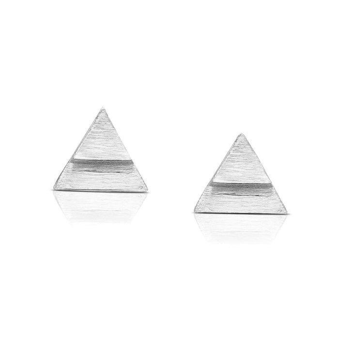 Triangle Matt Surface Earrings