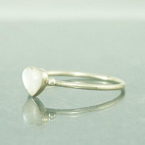 Sterling Silver solid Shell Heart Ring