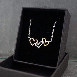 Silver Necklaces-Heart to Heart Necklace