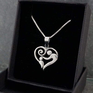 Sterling Silver Mom & Child Necklace Pendant