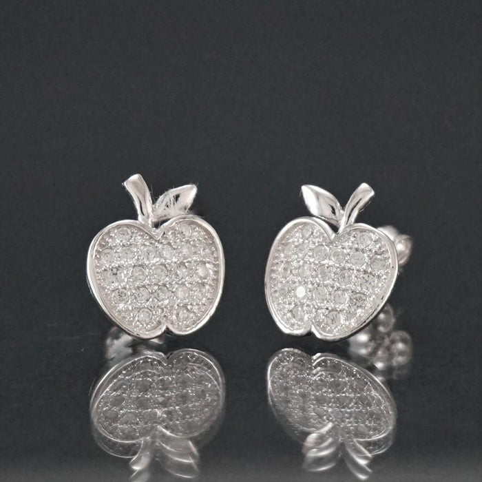 Silver Earrings | Silver Apple Earrings