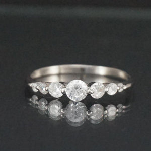 Silver Ring-Sterling Silver CZ Ring