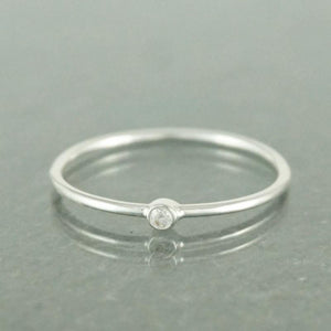 Sterling Silver Single CZ Ring