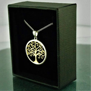 Necklaces-Silver Gold Tree of life Necklace