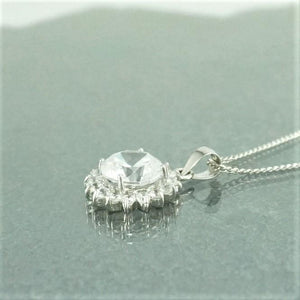 Silver Necklaces | Clear Gem Star Necklace (5761291013)