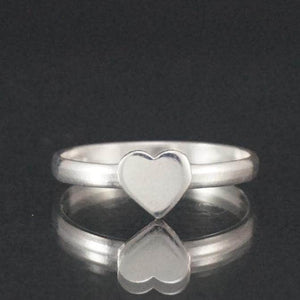 Sterling Silver Shell Heart Ring