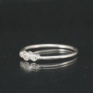 Sterling Silver Three Gem Stacking Ring
